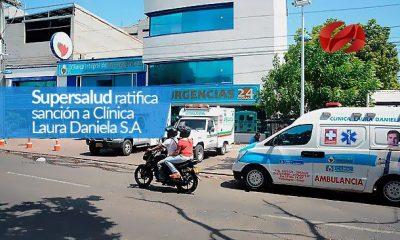 supersalud ratifica sancion a clinica laura daniela s.a