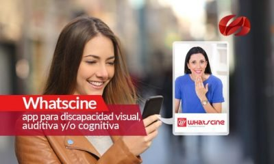 whatscine  app para discapacidad visual auditiva