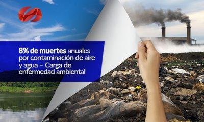 8 de muertes anuales por contaminacion de aire y agua carga de enfermedad ambiental