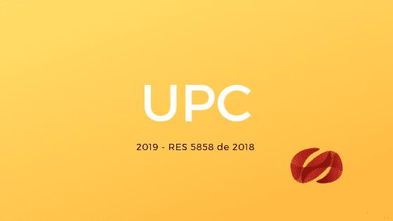 upc 2019 resolucion 5858 de 2018 consultorsalud