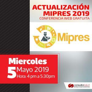 CONFERENCIA WEB MIPRES GRATUITA – Módulo Proveedores y novedades para el 2019