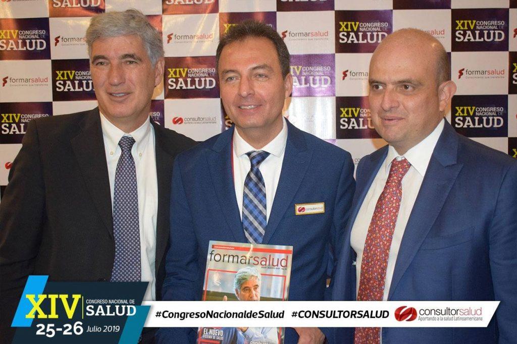 Ministro de Salud, Viceministro y Carlos Felipe Muñoz Consultorsalud