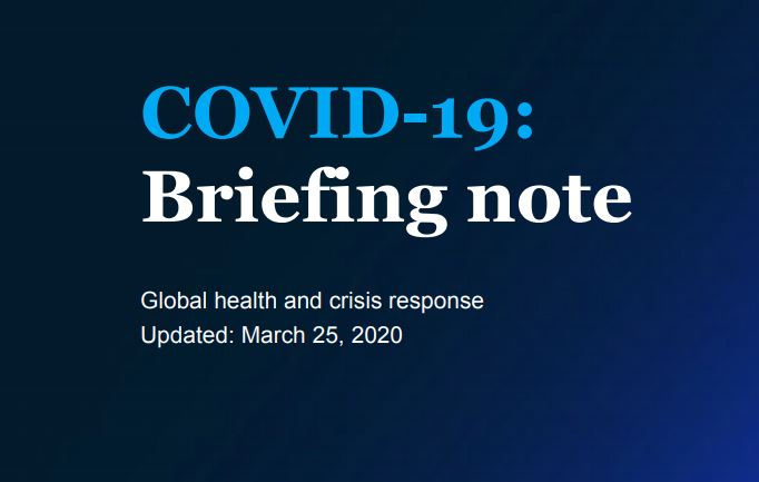 Briefing note McKinsey & Company
