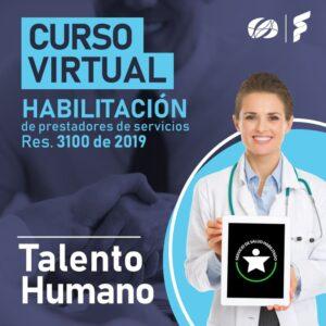 Curso virtual: Res. 3100 de 2019, Estándar de Talento Humano