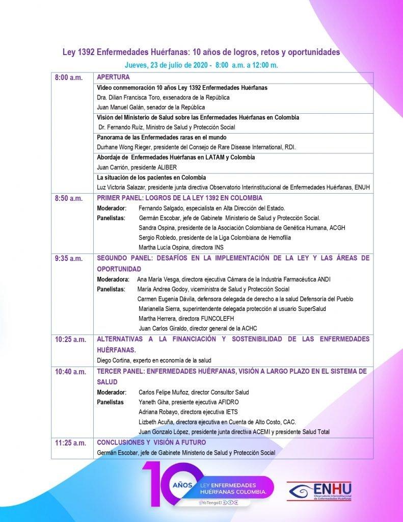 Agenda Foro Ley Enfermedades Huérfanas  julio 871 page 0001 1