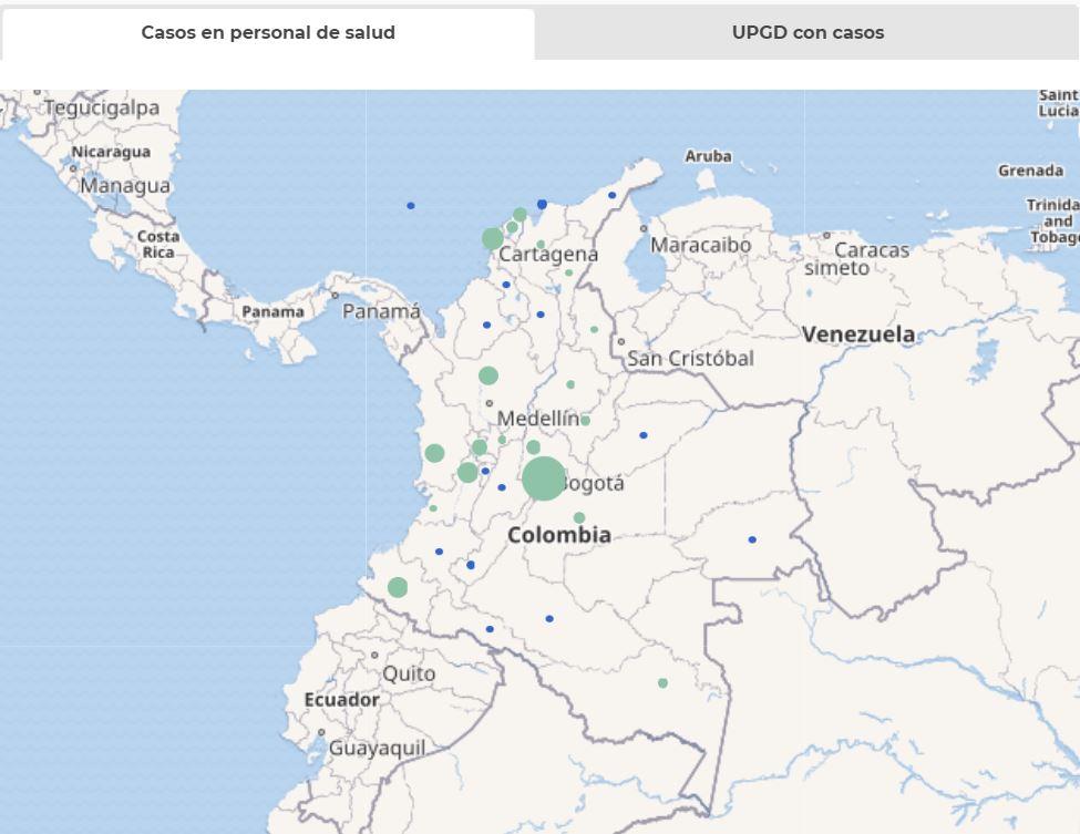 mapa casos personal de salud