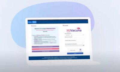 Portal Mi Vacuna disponible mediodia