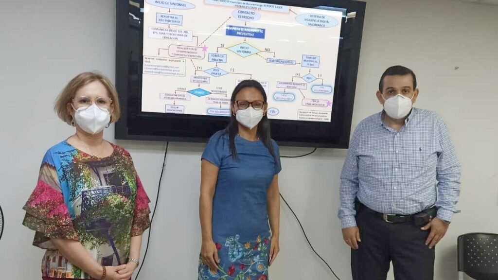 Realizaran pruebas PCR saliva colegios Bucaramanga. Fotos Secretaria de Salud de Bmanga