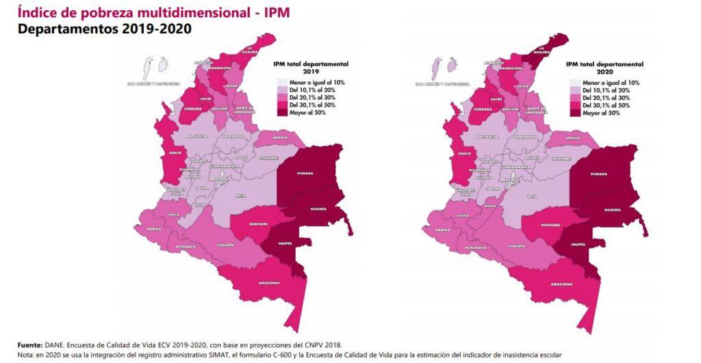 indice pobreza multidimensional Colombia